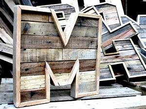 114 best barn wood crafts images on pinterest home ideas With pallet letters