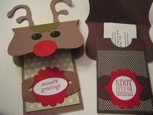 Stampin Up Card Handmade Christmas Reindeer Gift Card