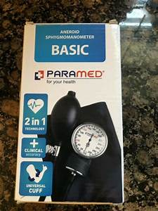 Manual Blood Pressure Cuff By Paramed Basic Aneroid