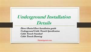 Underground Installation Details  U2013 Paktechpoint