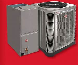 14 Seer Rheem 4 Ton Central Air Conditioning Condensing