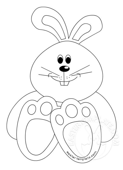 cute easter bunny template easter template