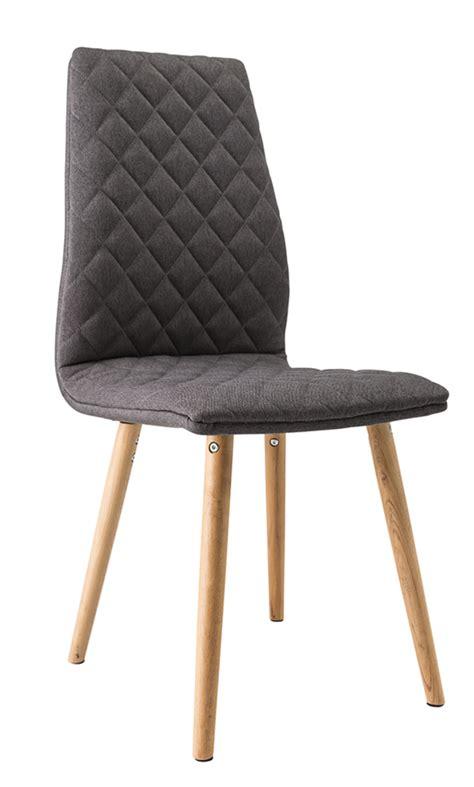 chaise de salle a manger grise chaise lecco naturel gris