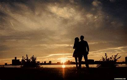Gifs Animated Couple Sunset Silhouette Animation Twirl
