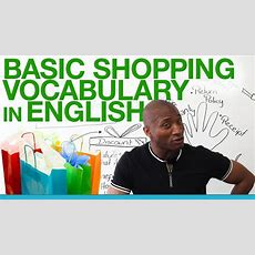 Basic Shopping Vocabulary In English Youtube
