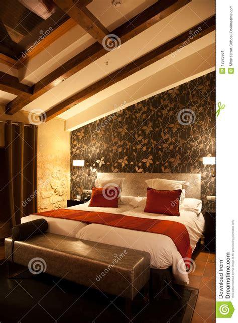 modern mansard bedroom stock image image  attic