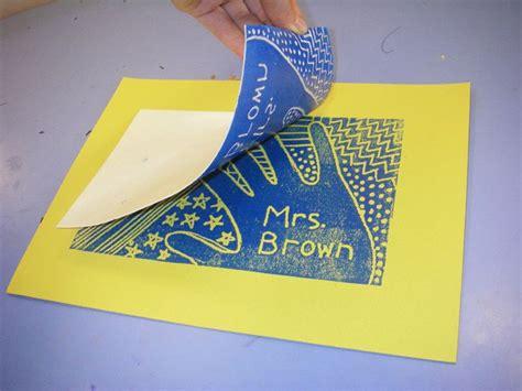 Styrofoam Plate Printmaking 5th Grade Mrs Brown's Art Class Positivenegative Space; Patterning