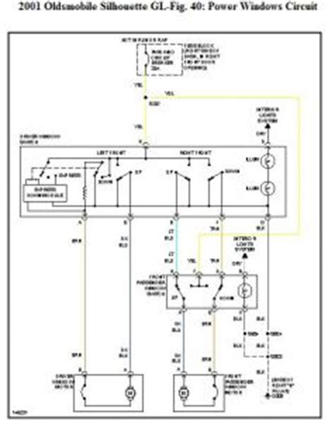 Starter Wire Diagram 2001 Alero by 2001 Oldsmobile Silhouette Pass Power Window Won T Go Up Fr