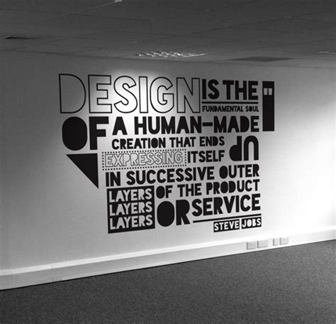 typographic quote typography pinterest walls office designs and graphics