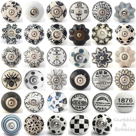 Door Knobs Sydney Vintage by Black White Grey Vintage Ceramic Knobs Drawer Pull