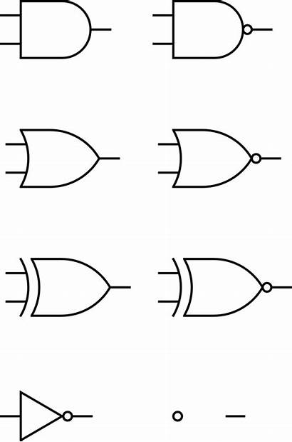 Logic Gates Digital Clip Symbols Circuit Clipart