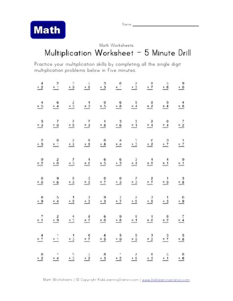 All Worksheets » Multiplication Drills Worksheets  Printable Worksheets Guide For Children And