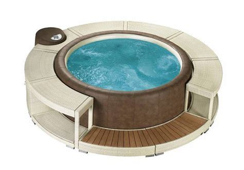 Um Whirlpool by Whirlpoolumrandung White Chocolate F 252 R Softub Resort