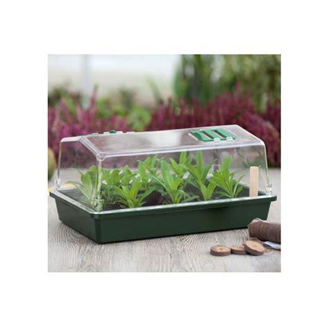 mini serre pour semis et bouturage nature 55 x 31 cm