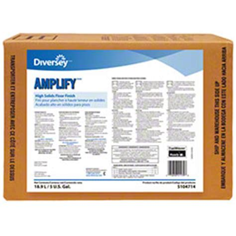Diversey Complete Floor Finish Msds by Diversey Lify High Solids Floor Finish 5 Gal
