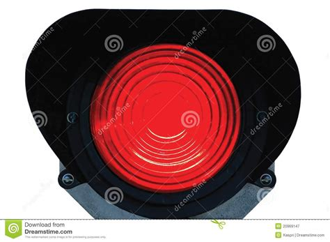 2 Way Lamp Switch by Red Light Railway Traffic Signal Isolated Royalty Free