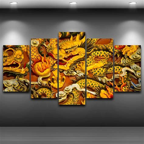 chinese dragon framed printed wall art picture artistic