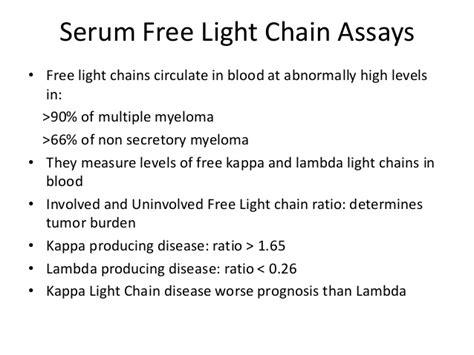 kappa free light chain high multiple myeloma