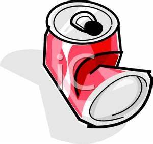 A Crushed Soda Can - Royalty Free Clipart Picture