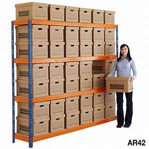 Max archive document storage shelving with boxes ebay for Archive document storage