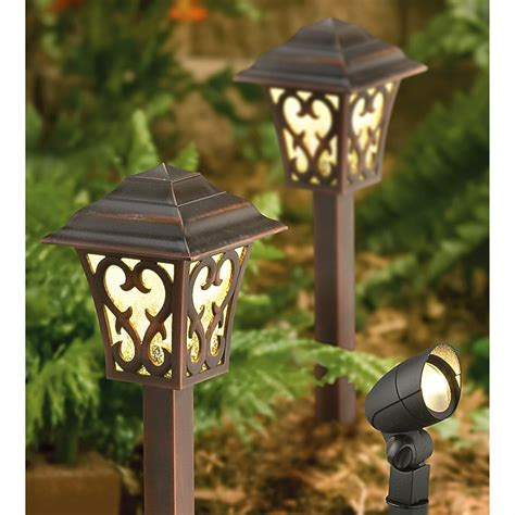 malibu outdoor lighting malibu 174 6 pc led landscape light kit 176927 solar