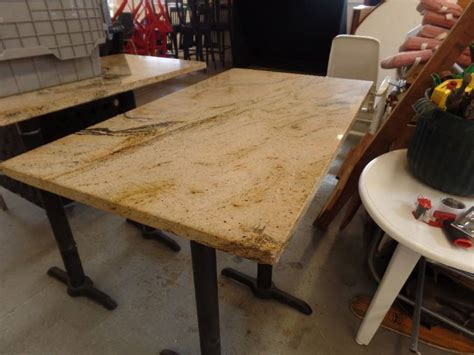 granite top pub table abi 331 restaurant equipment