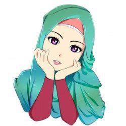 gambar kartun muslimah cantik journal pinterest