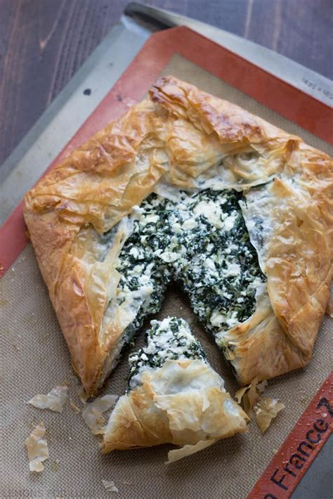 This simple phyllo (filo) dough is made with four simple ingredients only: spinach phyllo pie martha stewart
