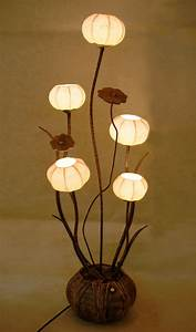 antique alive With 7 light flower floor lamp
