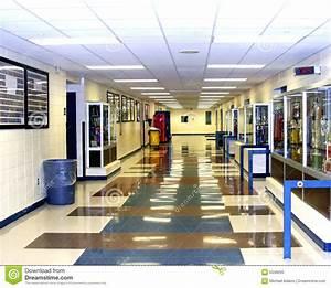 High School Hallway Royalty Free Stock Photo - Image: 5348205