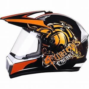 Casque De Velo Cross : casque moto cross furious eole taille m feu vert ~ Nature-et-papiers.com Idées de Décoration