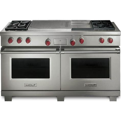 wolf dfgf lp  dual fuel range   sealed burners griddle french top
