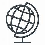 Icon Geography Globe Flat Transparent Earth Svg