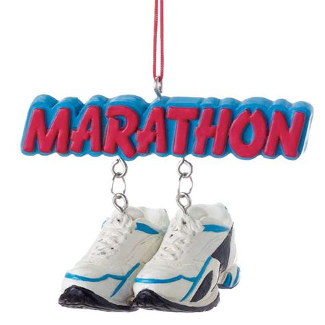 best christmas list items for runners marathon running shoes ornament