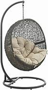 Hide Gray Beige Outdoor Patio Swing Chair With Stand from outdoor patio swing chair with stand