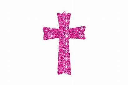 Cross Pink Clip Clipart Glitter Graphics Sparkle