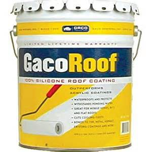 gaco gr1626 5 5gallon green gacoroof silicone roof coating