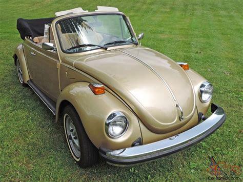 gold volkswagen beetle 1974 volkswagen super beetle limited edition gold sun bug
