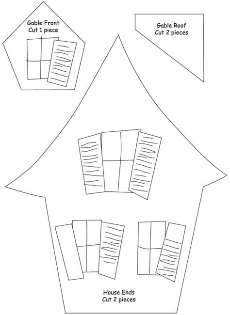 Haunted House Template Printable | ASSEMBLE the small