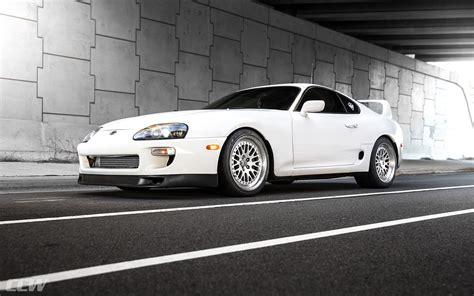 white toyota supra ccw classic wheels