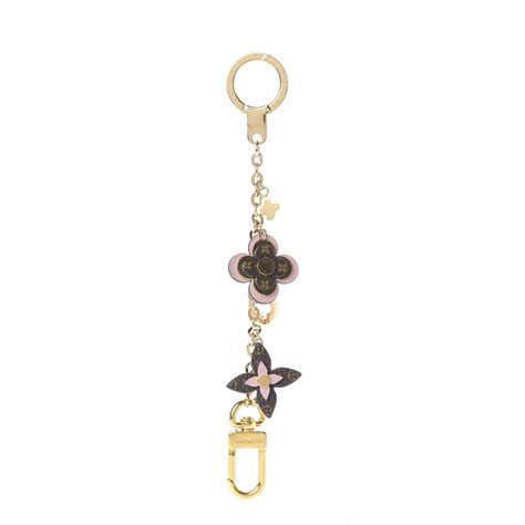 louis vuitton monogram blooming flowers bag charm key holder rose ballerine