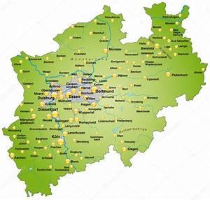 Nord Rhein Westfalen : nordrhein westfalen in gr n stockvektor artalis 7700239 ~ Buech-reservation.com Haus und Dekorationen
