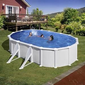 Piscine Hors Sol Chauffée : piscine hors sol acier san clara l 6 4 x l x h ~ Mglfilm.com Idées de Décoration
