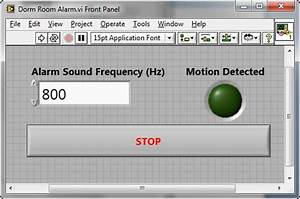 Dorm Room Alarm System Using A Pir Motion Detector