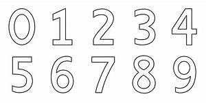 Numbers 0-9 Coloring Page - Free Clip Art