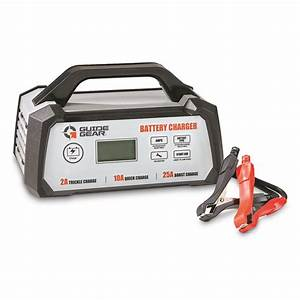 Guide Gear 25a 12v Smart Battery Charger With Start Aid