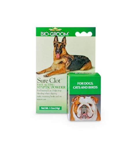 bio groom  clot styptic powder  dog grooming nail