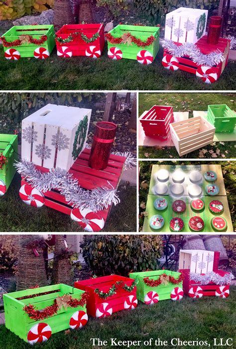 diy christmas crate train craft   diy