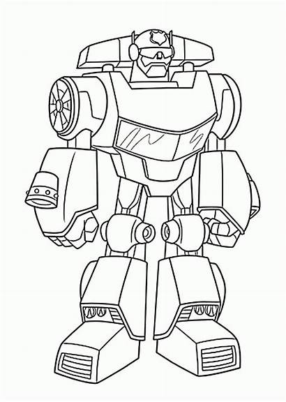 Rescue Coloring Bots Pages