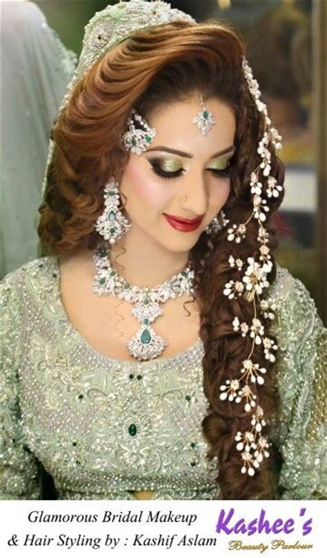 glamorous makeup  hairstyling  kashif aslam  kashees beauty parlour indian wedding